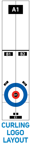 Curling logo layout