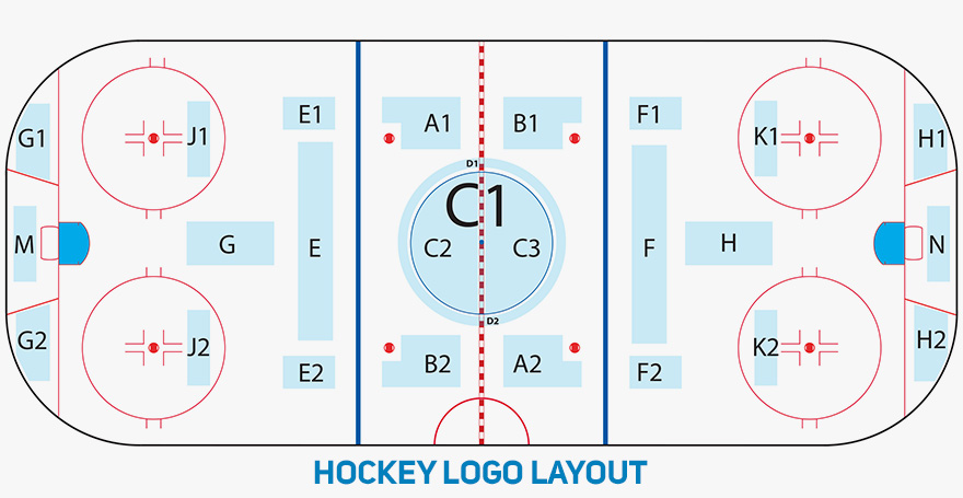 Hockey logo layout