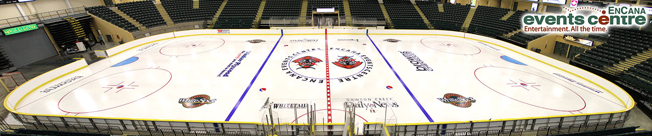 Encana Events Centre Ice Shot