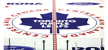 Painted In-Ice Logos for Hockey