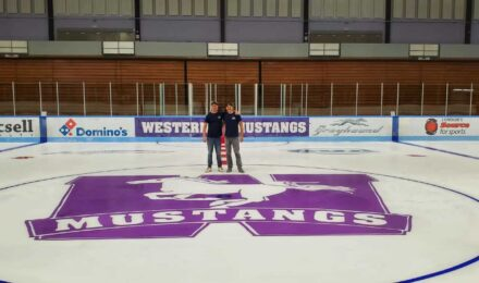 Two Jet Ice Crew Work On Western University Centre Ice