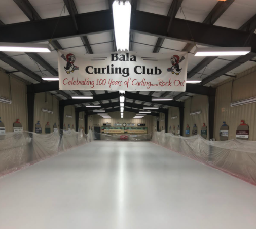 Bala Curling Club White Paint Install by Jet Ice