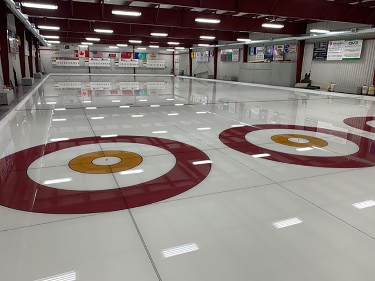 Painted Curling Houses